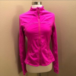 Bright pink lululemon jacket
